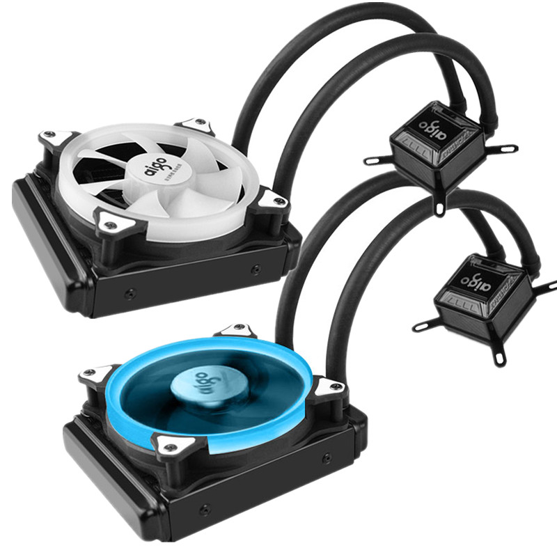 Water Cooler Radiator For Computer CPU Water Cooling With LED Ring 4pin 120mm PWM Fan And Aluminum Heatsink Liquid Cooling 55mm aluminum cooling fan heatsink cooler for pc computer cpu vga video card bronze em88