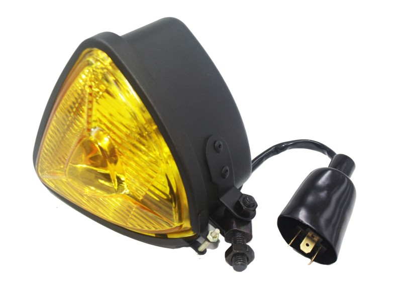 Motorcycle Triangle Retro Vintage Old School Head Light Lamp For Cafe Racer Hot