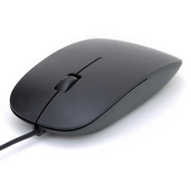Nouveau Simple Ultra mince souris filaire 3 boutons 1200DPI USB souris optique pour ordinateur de bureau bureau à domicile