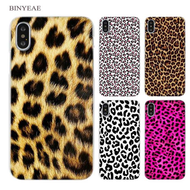 cheaper 9fa7f 2caf0 US $1.91 34% OFF|BINYEAE leopard print Clear Cell Phone Case Cover for  Apple iPhone X 4 4s 5 5s SE 5c 6 6s 7 8 Plus-in Half-wrapped Case from ...