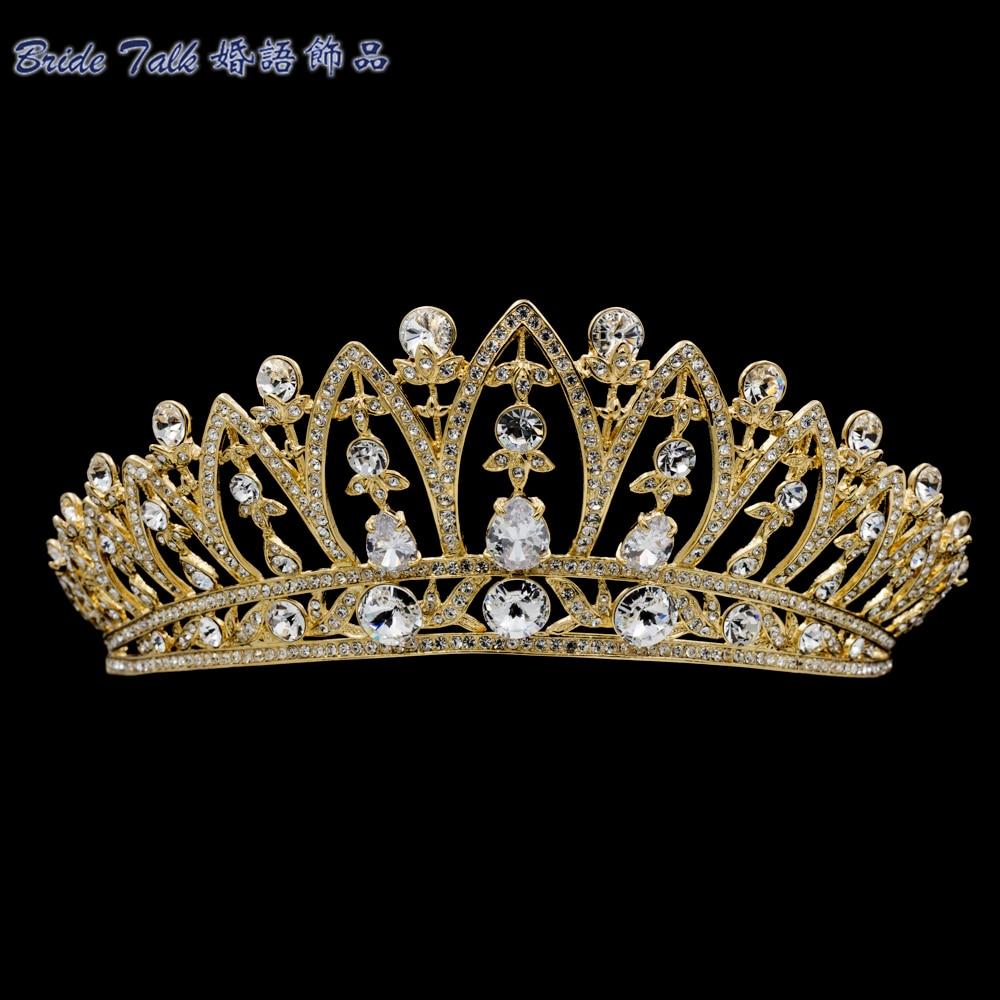 Réel Autrichien Cristaux Strass Mariée Diadème Femmes Couronne De Mariée Bijoux De Cheveux De Mariage Accessoires SHA8628-1