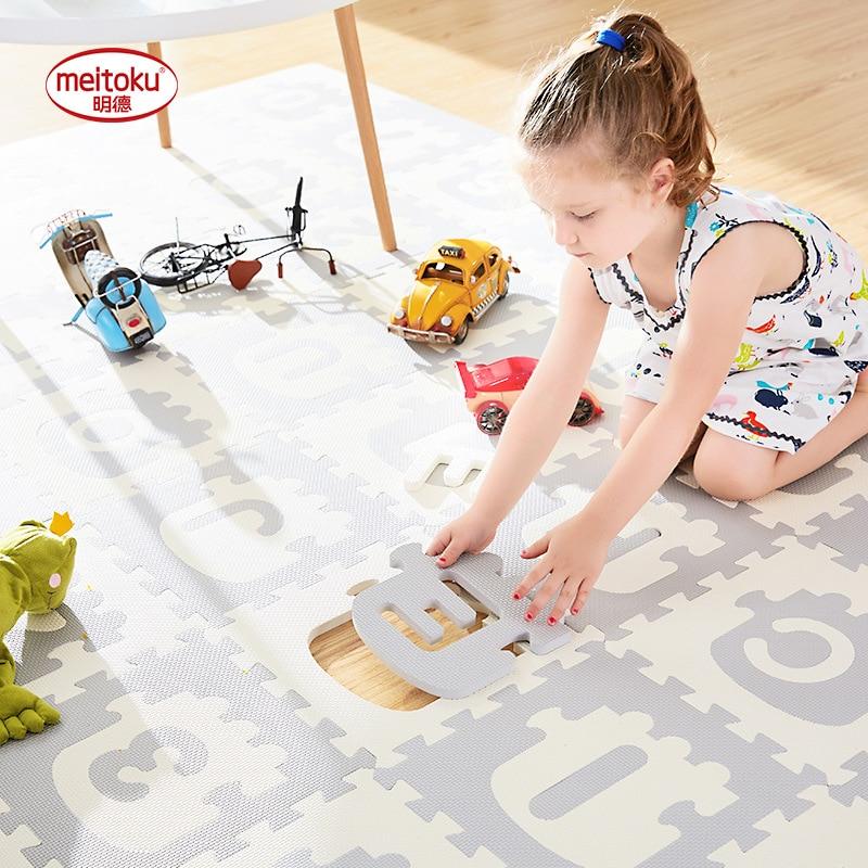 Infantile Brillante Treno Alfanumerico Puzzle Bambino Pad Camera Da Letto Del Bambino Anti Slittamento Gioco Zerbino 30*30*1.4 cm