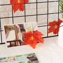 LED Maple Leaf Fairy Garland Led String Light 1.5M 3M Plant Holiday Wedding Room Christmas Decorative Lighting