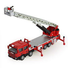 KAIDIWEI Alloy ladder truck fire engine climbing car truck toy birthday gift collection decoration model 1:50(China)