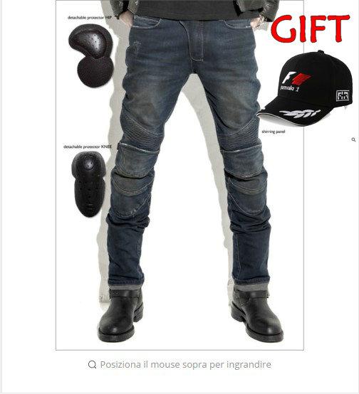 2016 Motorcycle PANTS MAN VOLERO YH 615 Featherbed font b jeans b font pantaloni Goccia cavalcare