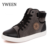 YWEEN Fashion Sneakers For Men Classic Lace Up High Style Vulcanized Flat With Casual Shoes