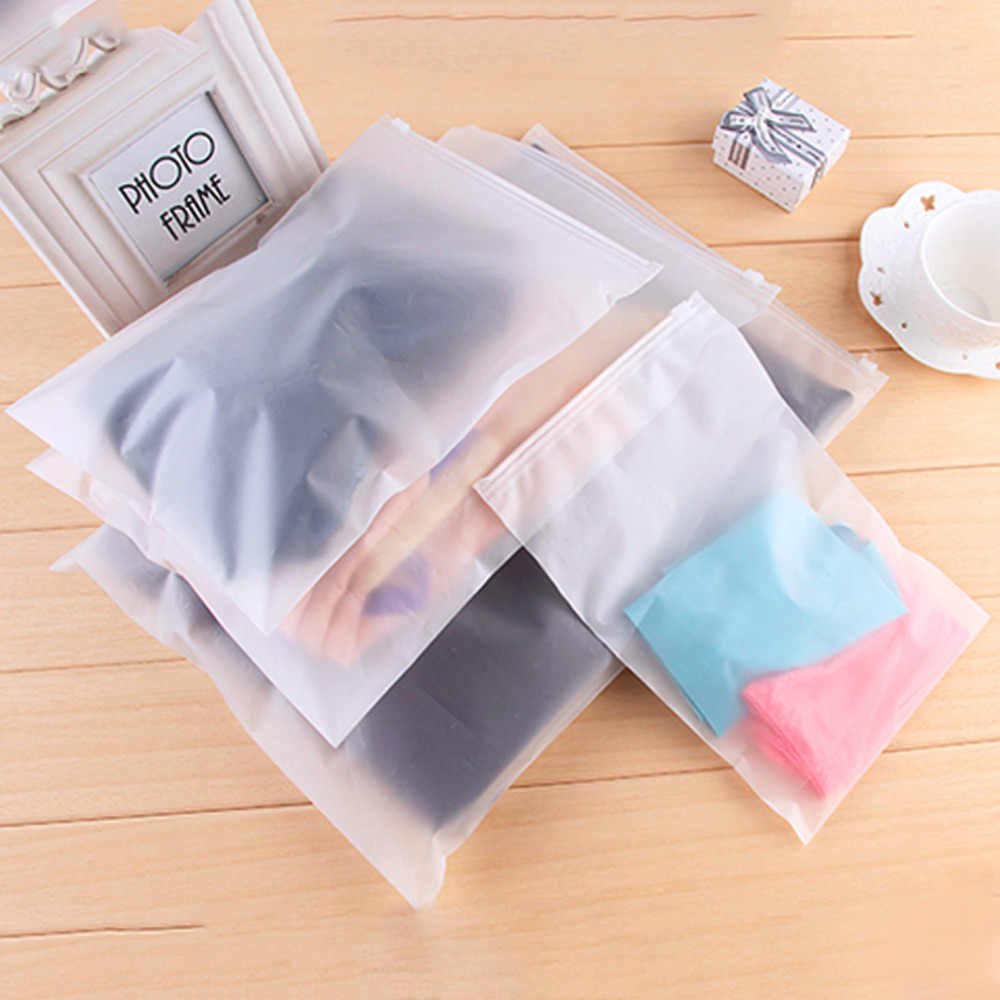 Swimming Bag Transparent Sealed Waterproof  Zip lock Bag Zipper Bags Reclosable Storage Bags For Clothing Bras Shoes New