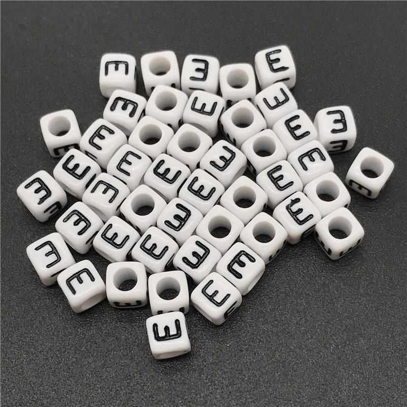 Cheap Sale Woodbeads 100pcs Natural Alphabet/ Letter Cube Wood Beads 8x8mm For Jewelry Making Diy Bracelet Neklace Hat Dress Cloth Findings Beads