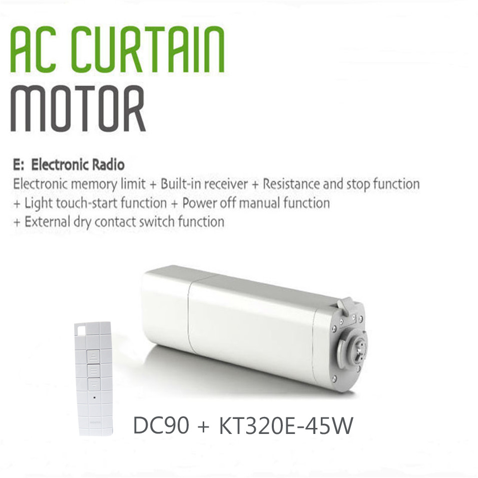2018 Original Ewelink Dooya Sunflower KT320E Intelligent Electric Curtain Motors 45W 220V with remote DC90 for Smart Home ewelink dooya electric curtain system curtain motor dt52e 45w remote control motorized aluminium curtain rail tracks 1m 6m