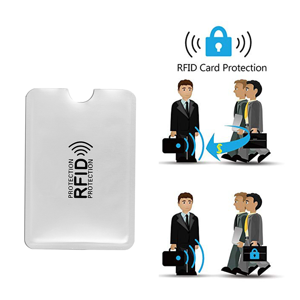 500 Pcs/set RFID  IC Card Protection NFC Security Card RFID Shielded Sleeve Card Blocking Prevent Unauthorized Scanning