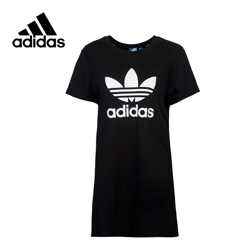 Adidas New Arrival 2017 Original Originals Long Style Women's T-shirts short sleeve Sportswear AY8123 original new arrival 2017 adidas freelift prime men s t shirts short sleeve sportswear