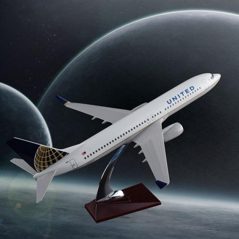 40 см смолы B737 800 United модель самолета авиакомпании США Боинг 737 800 модель Оптовая Творческий путешествия подарок ручной работы