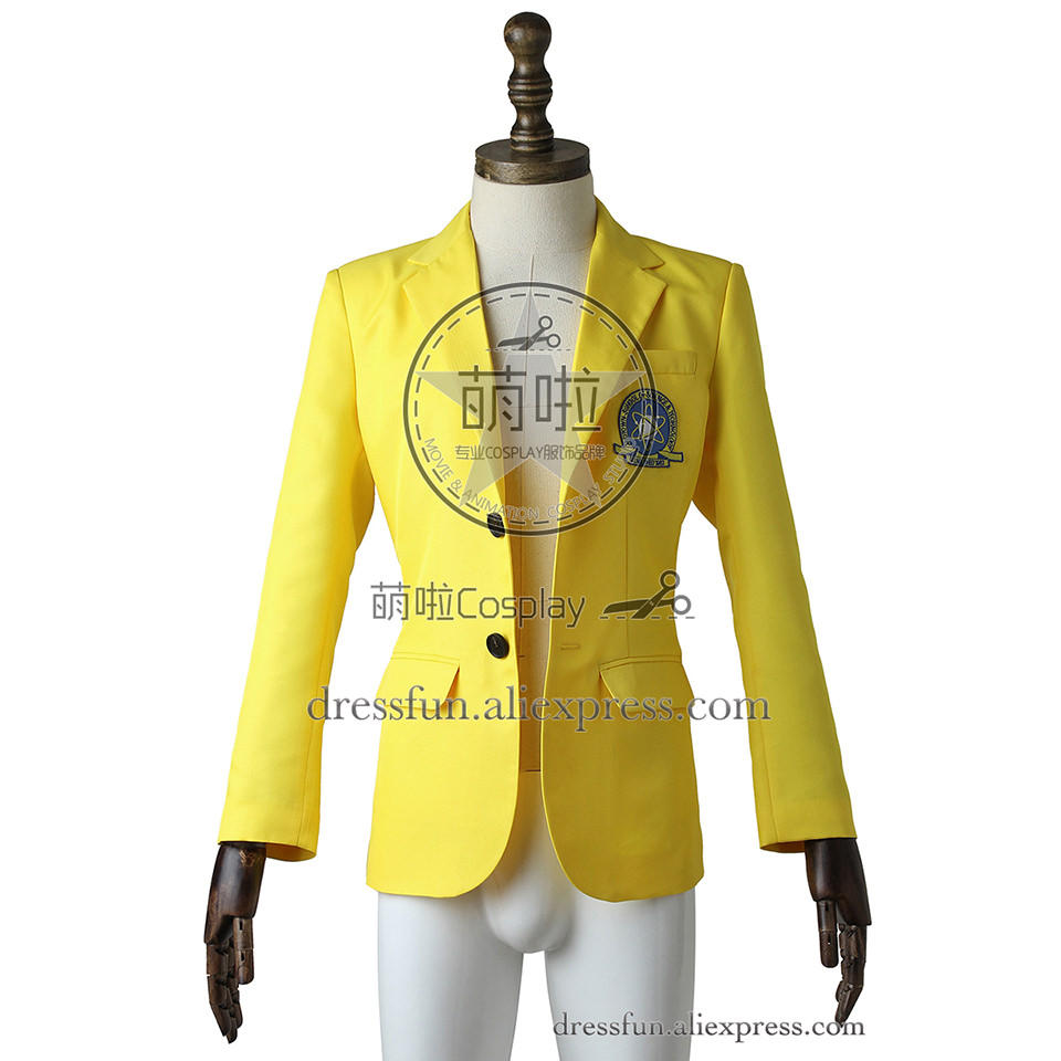 Spider-Man Homecoming Cosplay Peter Parker Costume Yellow Blazers Bright and Lively Uniform Beautiful Fashion Fast Shipping