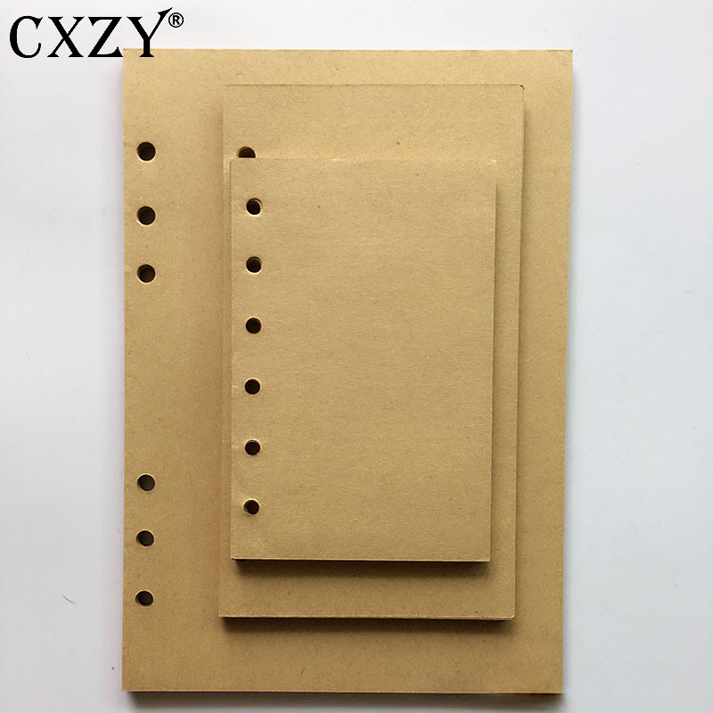 A5 A6 A7 Blank Kraft Paper Loose Leaf Notebook Spiral Vintage Inner Page Refill Journal Travel Planner Muji Style Dairy Diary