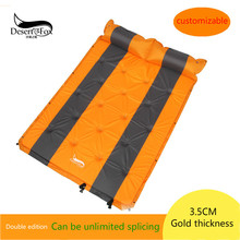 DesertFox 2017 Outdoor camping auto inflatable pad double stitching thickening widening picnic mat mats