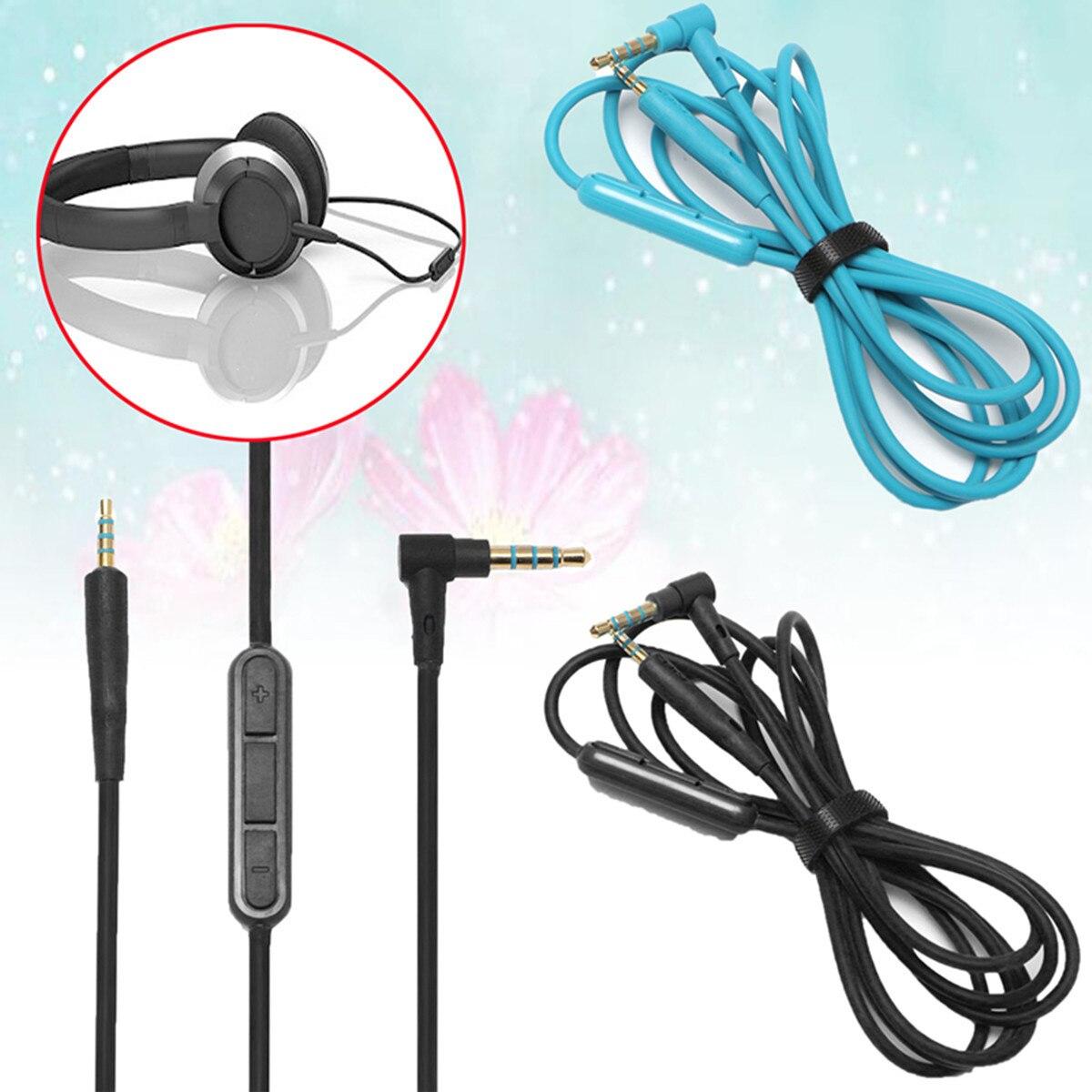 2.5mm Naar 3.5mm Audio Kabel Extension Wire Cord Met Microfoon Quiet Comfort Qc25 Hoofdtelefoon Voor Boses 1.3 M