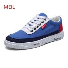 купить Casual Canvas Shoes Men Breathable Wear-resistant Shoes Fashion Mens Sneakers Casual Lace-up Flat Shoes for Men Zapatos Hombre дешево