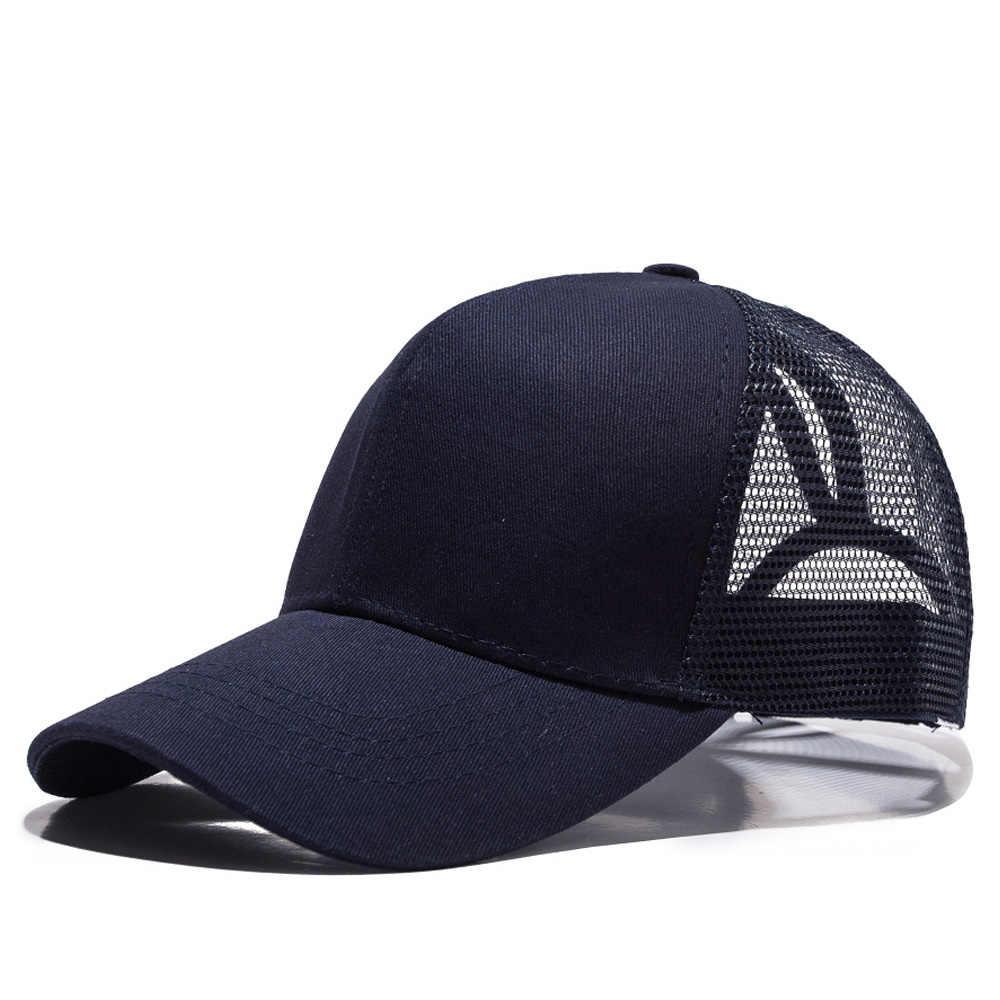 c3e00647 New Summer Outdoor Sport Ponytail Baseball Caps Female Casual Mesh Cap High  Quaily Visor Classic Simple
