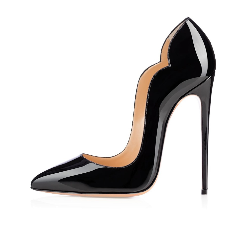 ФОТО Amourplato Women Handmade Fashion 120mm High Heel Pointy Arch Trimmed Chick Style Pumps