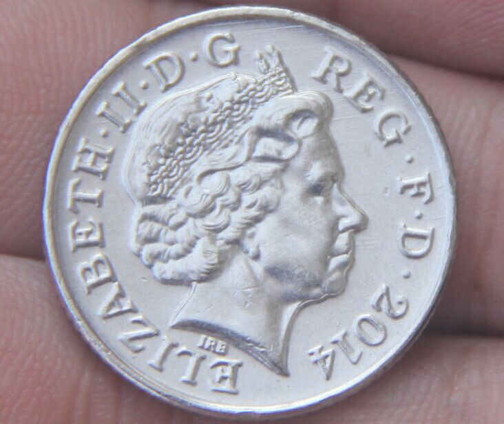 24mm The United Kingdom 10 Pence Coin Uk England