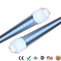 Заводская цена T8 R17D LED Light Tube 8ft 240 см 2400 мм теплый белый холодный белый супер яркий R17d трубки огни 40 Вт AC 85-265 В