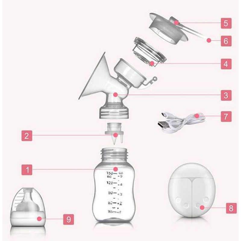 ZIMEITU двойной Электрический молокоотсос мощный всасывающий сосок USB Электрический молокоотсос с бутылка для детского молока холодной тепловой колодки Nippl