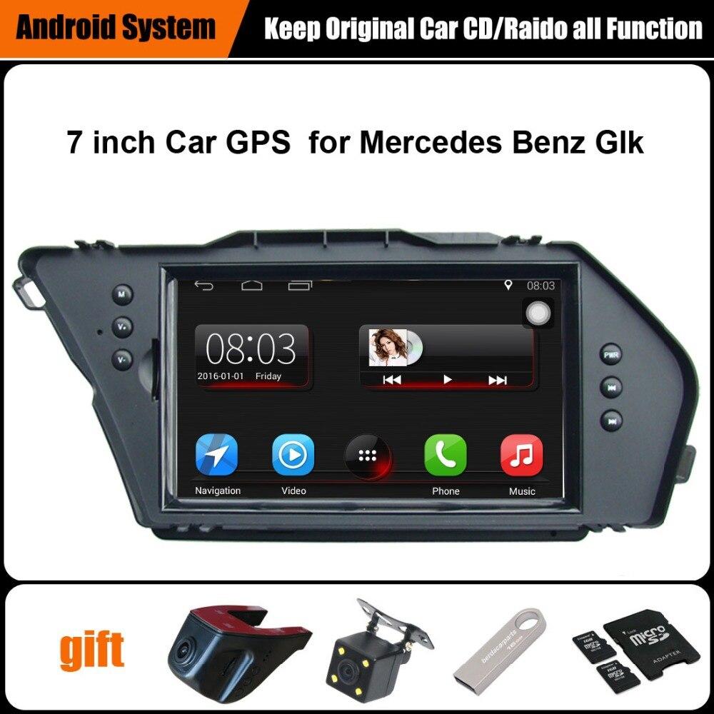 Mise à niveau D'origine Voiture lecteur multimédia De Voiture navigation gps pour Mercedes Benz Glk WiFi Smartphone lien miroir Bluetooth