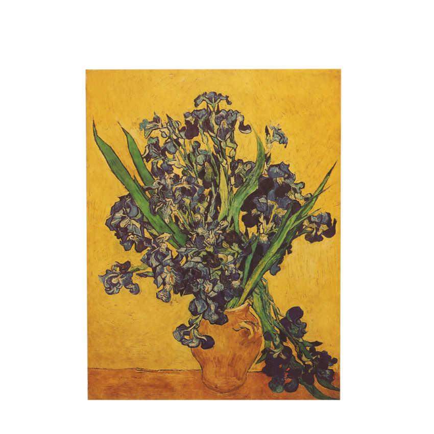 TIE LER Iris Fiore Poster Van Gogh Famoso Artista Art Stampa Poster Immagine Della Parete Della Pittura A Olio Decorazione Della Parete di Casa 45.5X35 centimetri