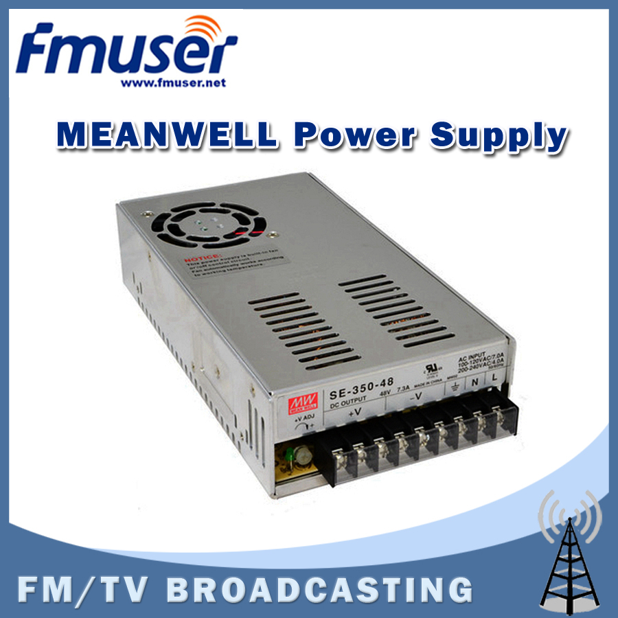 Free shipping  FMUSER MEANWELL SE-350-48 48V 7.3A Single Output Power Supply