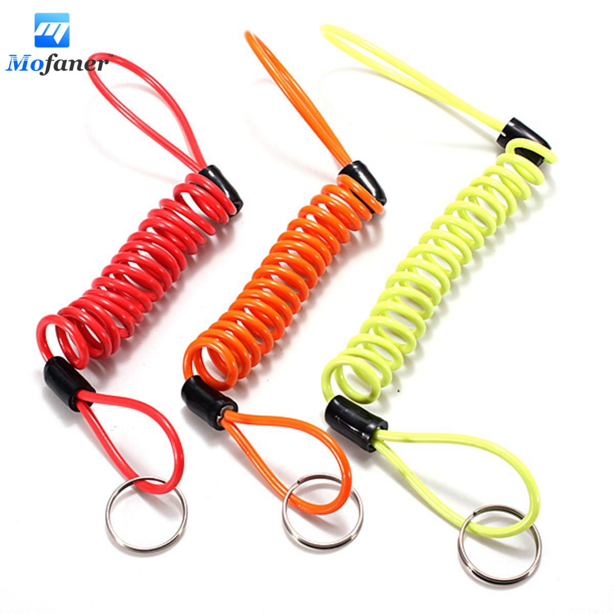 Mofaner Motorbike Motorcycle Scooter Disc Lock Security Spring Reminder Cable 3 Color