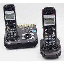 Цифровой беспроводной телефон с ответом systerm Handfree Call ID Беспроводной беспроводные фиксированной стационарный телефон для домашнего офиса английский