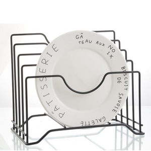 Image 1 - Junejour 1pc キッチン収納ホルダープレート水切りラックパンラックまな板収納棚ポット蓋オーガナイザースタンド鉄皿