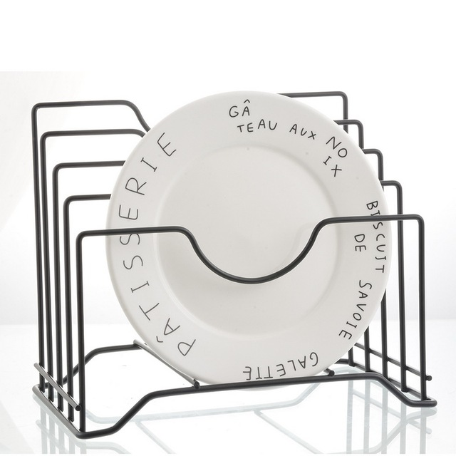 Junejour 1pc キッチン収納ホルダープレート水切りラックパンラックまな板収納棚ポット蓋オーガナイザースタンド鉄皿