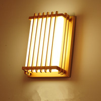Lâmpadas de parede Para O Quarto em Estilo Japonês Pequena Lâmpada Do Teto Quarto Lâmpada de Cabeceira Corredor Varanda Corredor Lâmpadas Madeira Maciça 30x22x12 cm|Luminárias de parede| |  -