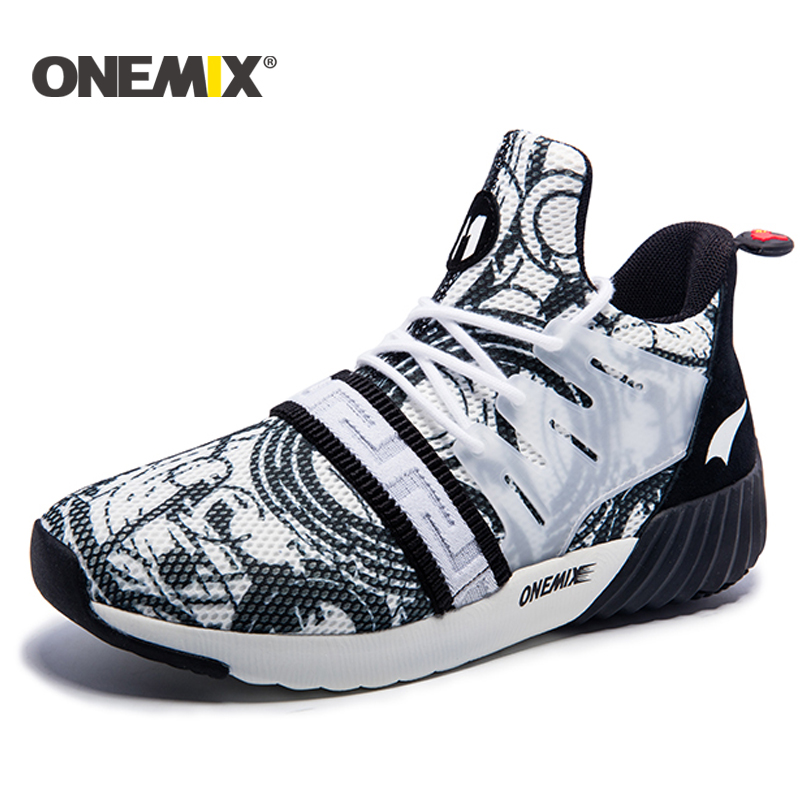 ONEMIX New Road running shoes lelaki bernafas kasut sukan Unisex Athletic Shoes jogging shoes outdoor trekking shoes women