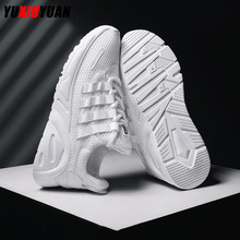 New Casual Mesh (Air mesh) Breathable Ultralight Lace-Up Sport Running Shoes Fashion Men Platform Fitness Sneakers