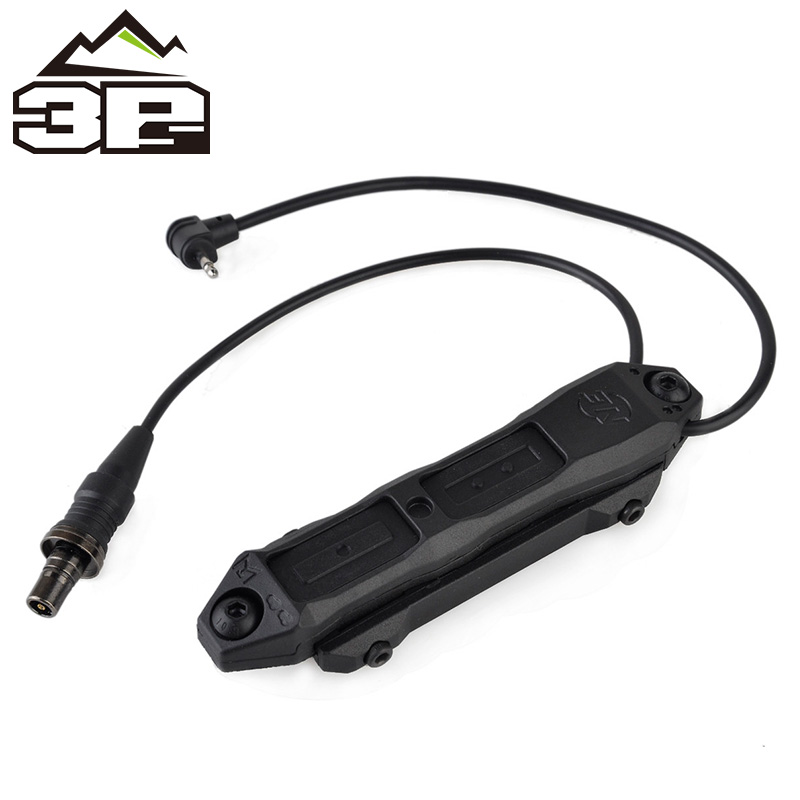 Image 4 - Remote Pressure Switch Scout Weapon Light Tail Dual Button Outdoor Hunting LED Flashlight PEQ 16A M3X Accessories WNE04040-in Weapon Lights from Sports & Entertainment