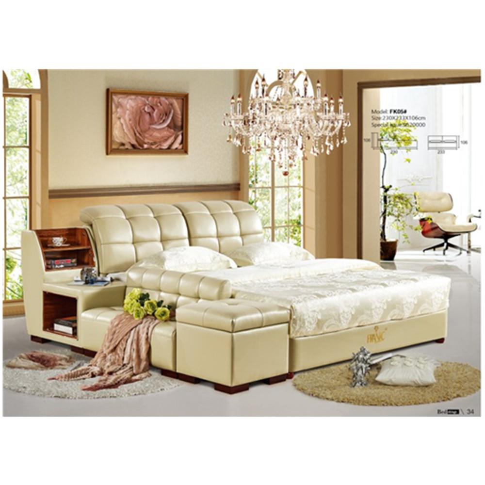 Modern Luxury Leather Sofa Bed For Bedroom Furniture