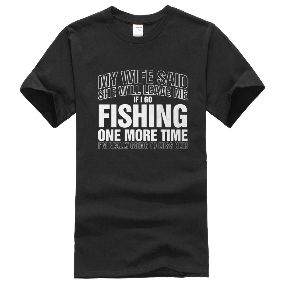 Personalized T Shirts If I Go Fishinger Again Gift For Dad Birthday Fathers Day Crew Neck Men Short Sleeve Best Friend Shirts