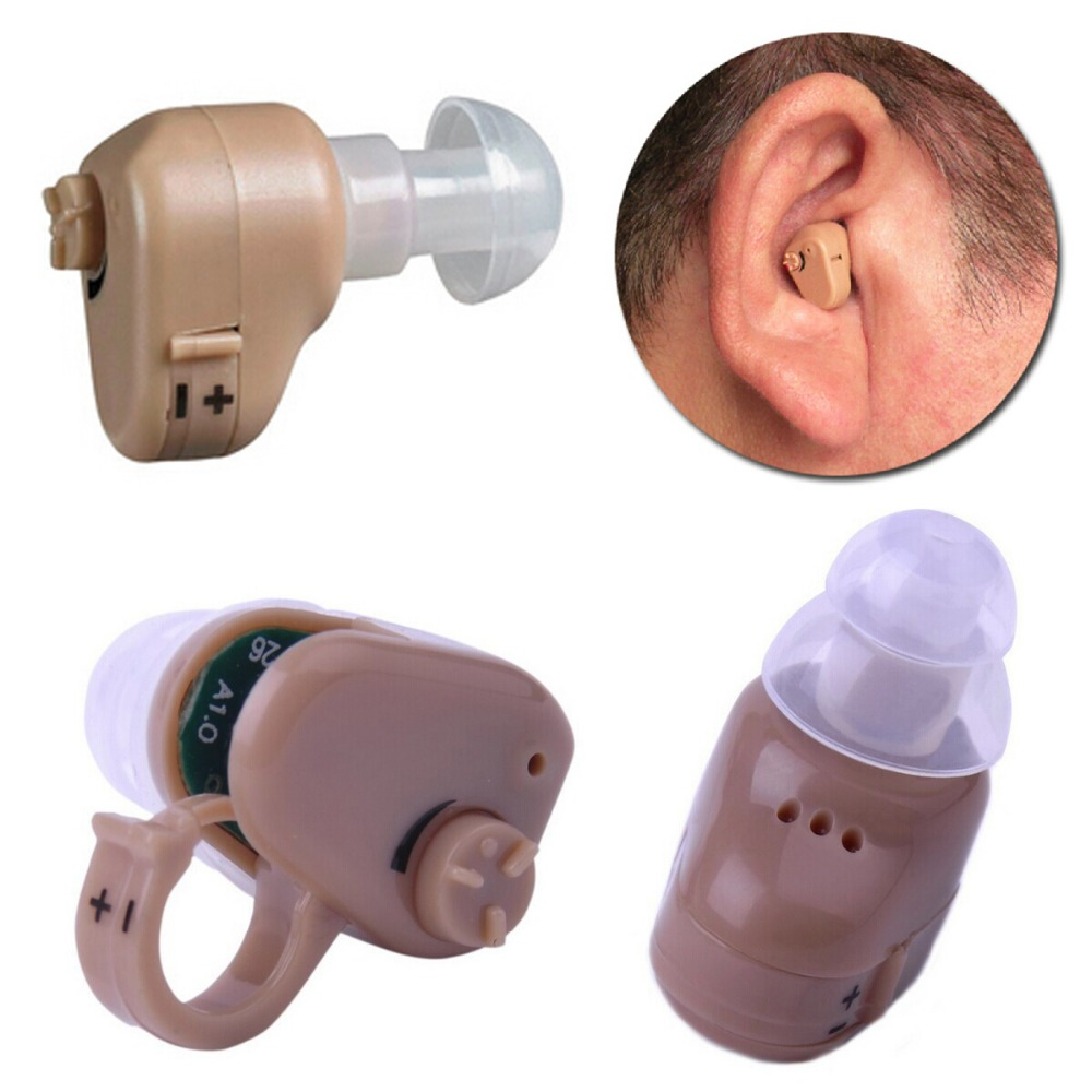 Axon K-55 Ear Aid Hearing Device Invisible Sound Ear Amplifier Hear Clear In-ear Hearing Aids Small for the Elderly Adjustable