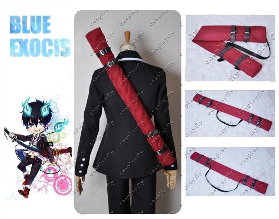 (In Stock Now) Ao No Blue Exorcist Rin Okumura Cosplay Prop 108 Cm & 42.5 Inch Burgundy Cloth Sword Bag Only For Adult Halloween