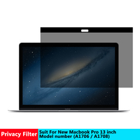 AIBOULLY Magnetic Privacy filter Screens Protective film for New Macbook pro 13 inch For Apple laptop model number A 1706/ A1708