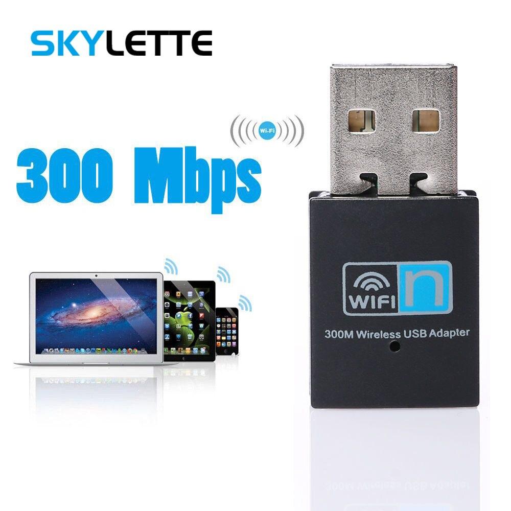 300Mbps USB WiFi Adapter Wall Penetration Wireless LAN Network Card Wi-Fi Dongle Stick Adapter For Desktop Laptop Windows MAC OS
