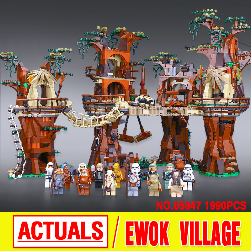 1990pcs font b Lepin b font 05047 Star Wars Ewok Village Building Blocks Juguete para Construir