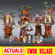 1990pcs Lepin 05047 Star Wars Ewok Village Building Blocks Juguete para Construir Bricks Toys Compatible