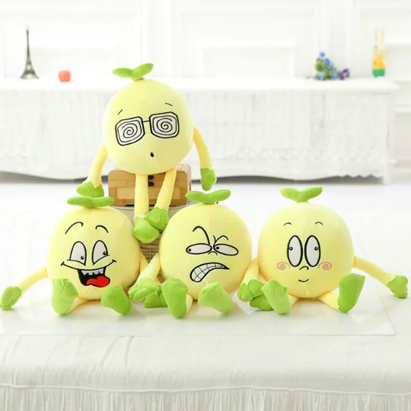 New Coming 55cm Cute Expression soybean Plush Toys stuffed plush Soybean cloth doll baby kids toys Christmas Gift