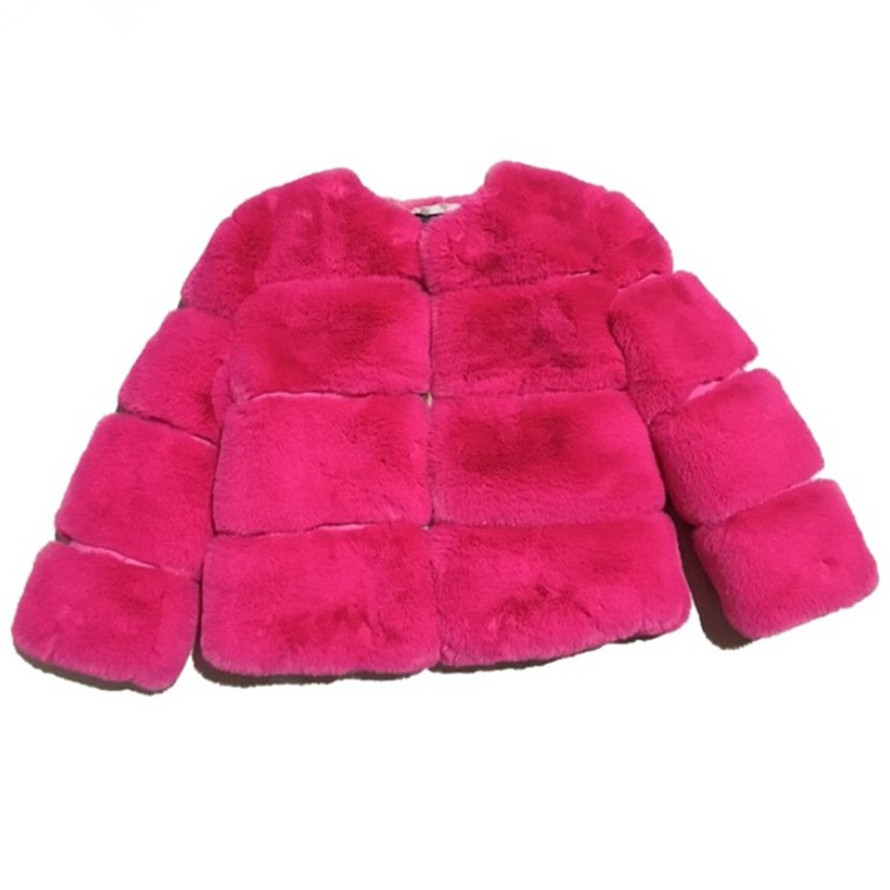 Children Faux Fur Coat Baby Girls Winter Coats Warm Imitation Fur Toddler Kids Outerwear Teens New Year Baby Leather Jacket 2 10