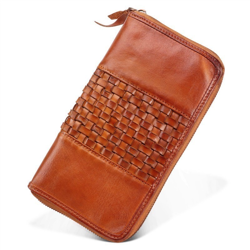 Best Men Wallets Genuine Leather Men Purse Long Designer With Coin Coin Pocket Clutch Wallet Zip Purse Phone Credit Card Holder fashion men s long zip leather clutch wallets male famous brand business purses with card holder phone pocket wallet for men