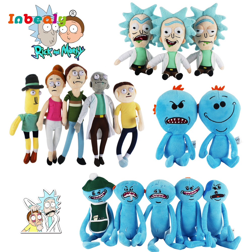 16 Style Rick and Morty Soft Dolls & Stuffed Toys Anime Plush Doll Happy Sad Foamy Mr Meeseeks Cartoon Plush Toys Movies & TV anime cartoon miyazaki hayao princess mononoke plush toys soft stuffed doll kodama 5 12cm
