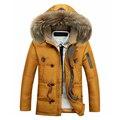 Мужчины пуховик Толще пальто в длинный отрезок Мужской среднего возраста моделей Удобные толстые пальто 160yw